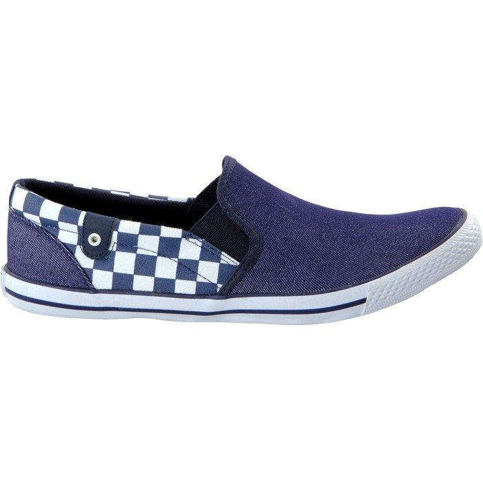 TOUCH - CANVAS -NAVY CHECK-602