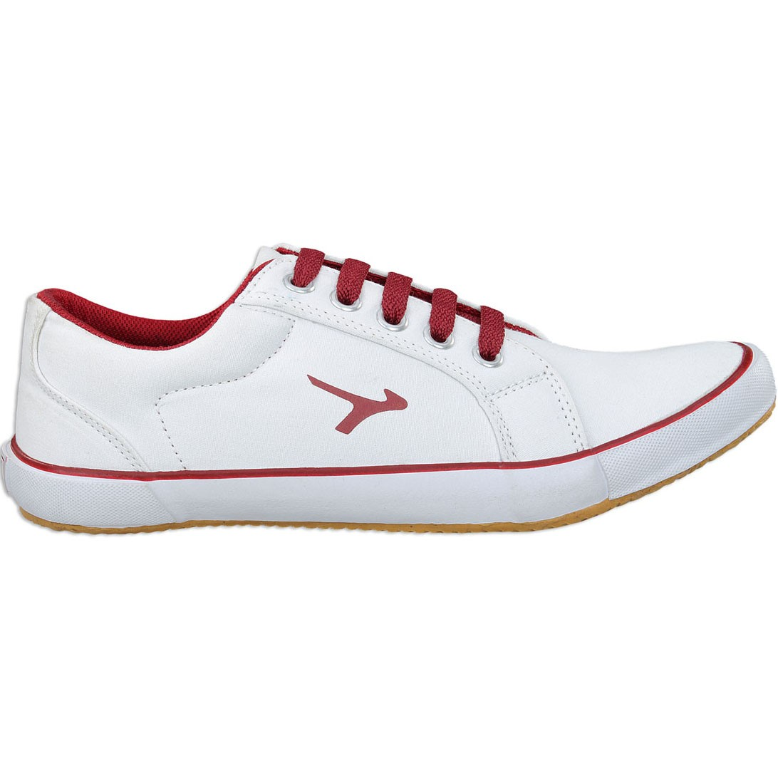 Touch Canvas 619 White-Maroon
