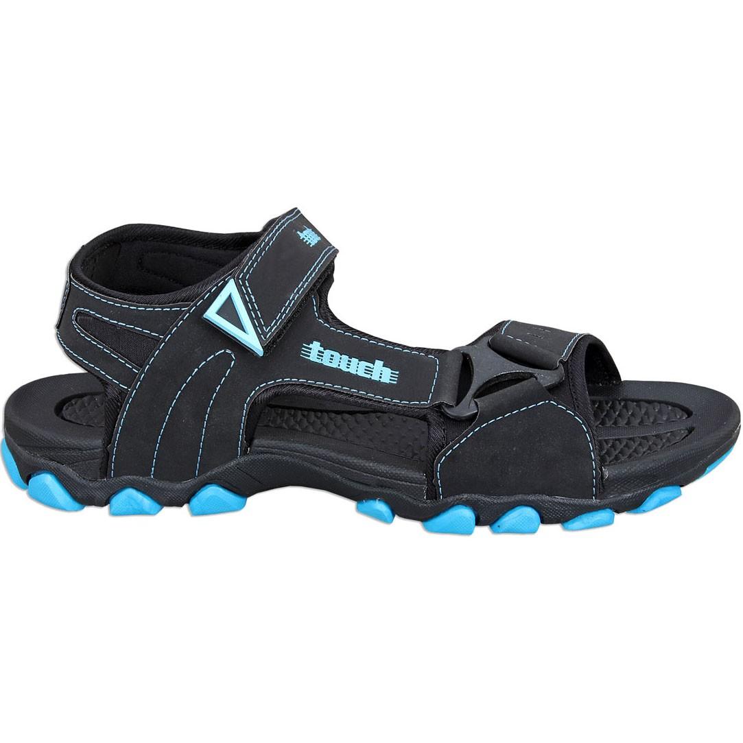 Touch P Sandal 1002 Blk-Sky Blue