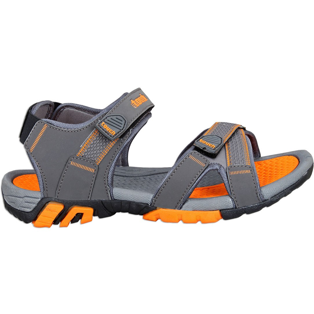 Touch P Sandal 1019 D Grey-Orange