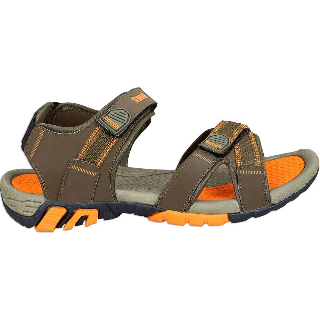 Touch P Sandal 1019 Olive-Orange