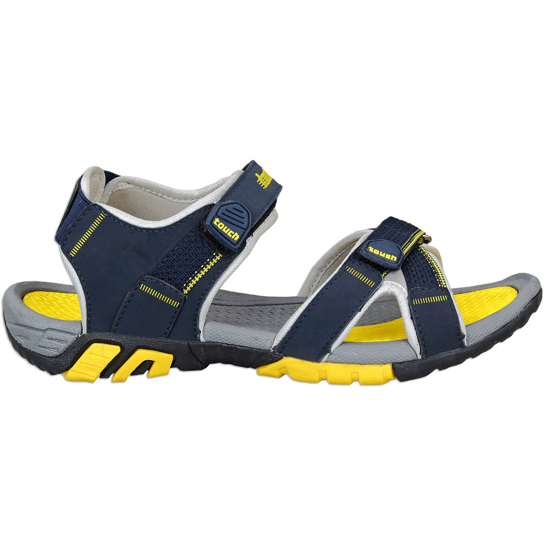 Touch P Sandal 1019 Lt Grey-Navy-Yellow