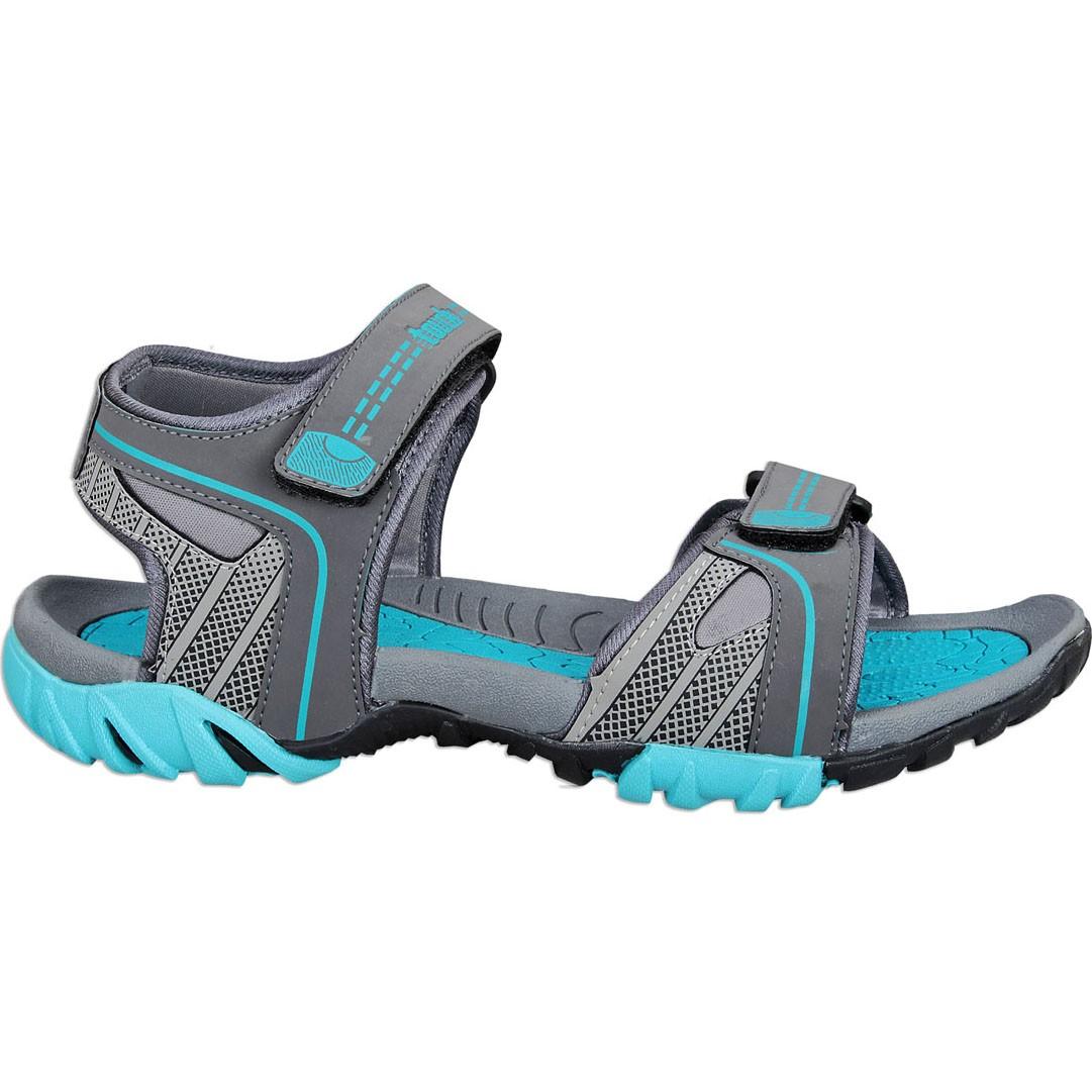 Touch P Sandal 1022 D Grey-Cyan