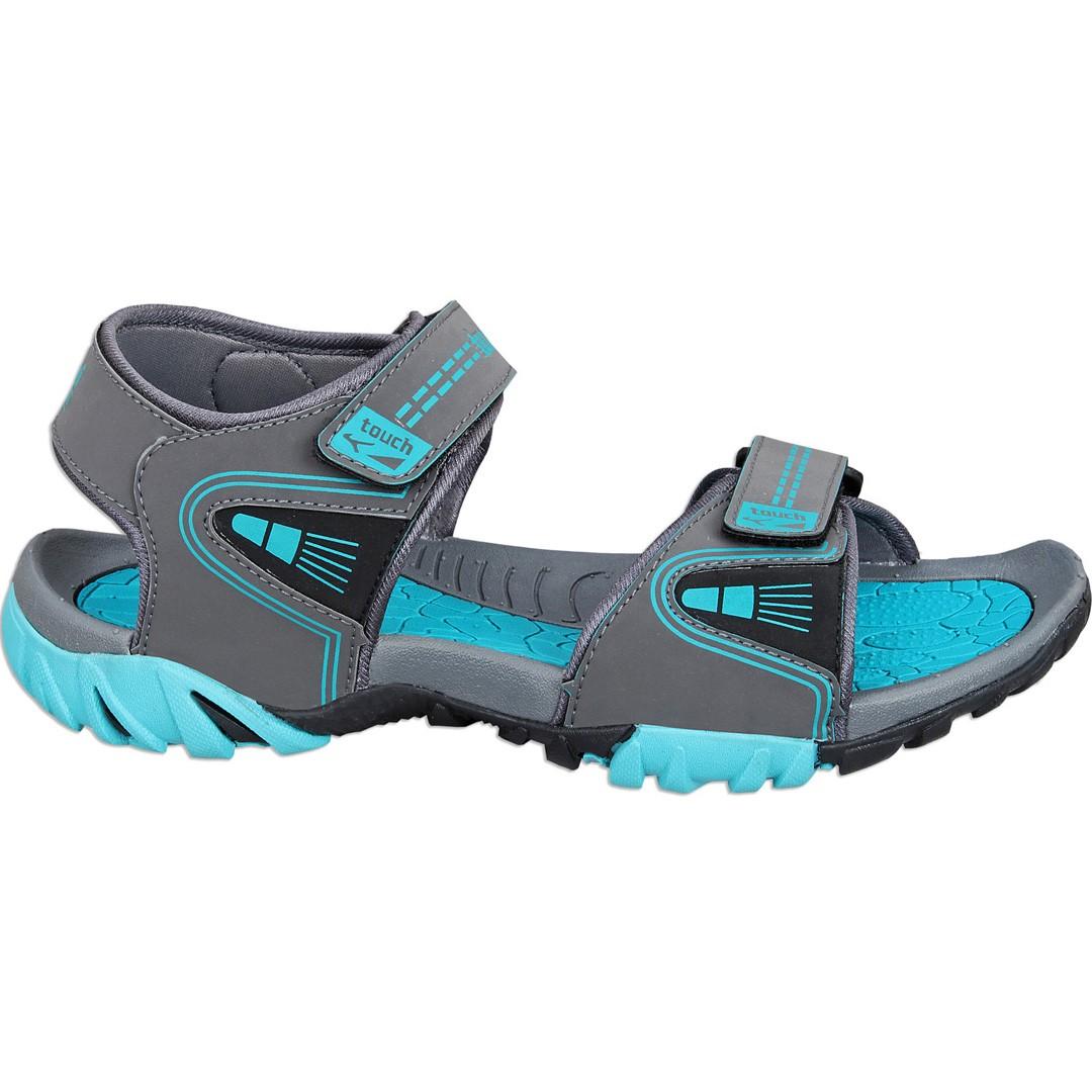 Touch P Sandal 1025 D Grey-Cyan