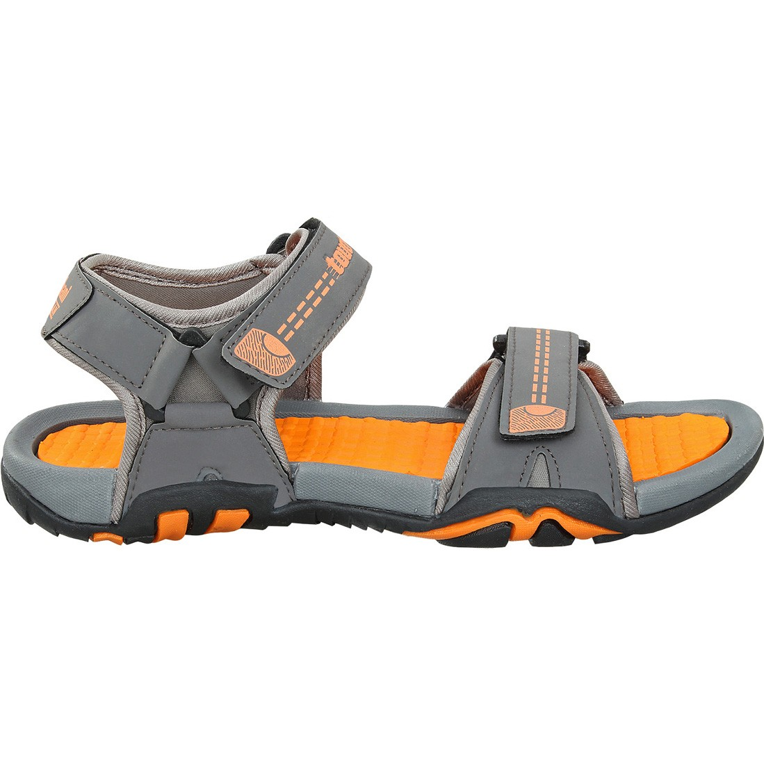 Touch Sandle-1027-Dark Grey/Orange