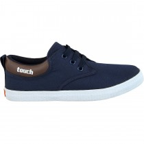 TOUCH CANVAS (M)-321-NAVY/BROWN