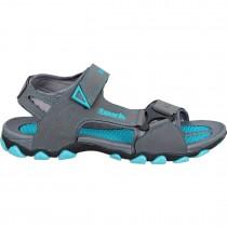 Touch P Sandal 1002 D Grey-Cyan