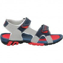 Touch Sandle-1010-Lt Grey/Navy/Red