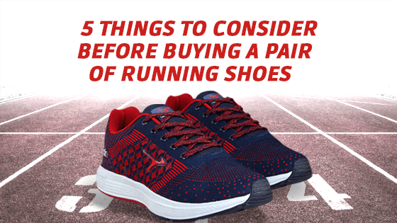 5 things to consider before buying a pair of running shoes